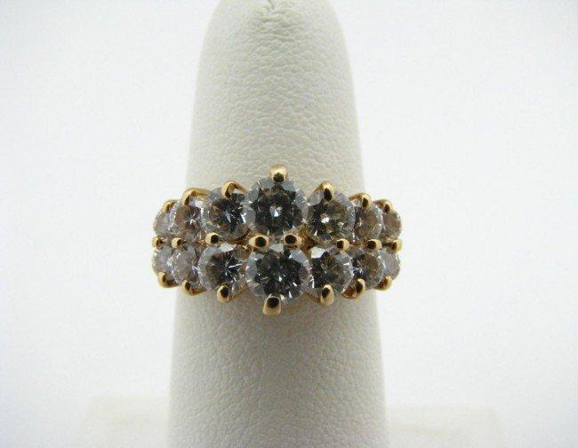14: 14K Yellow Gold Diamond Ring