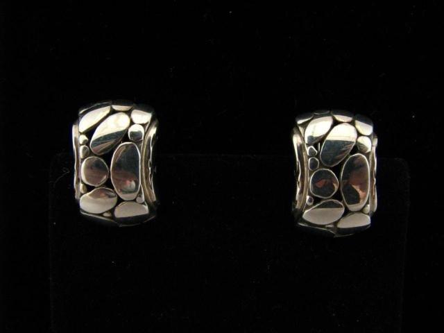 409: Pair of John Hardy Kali Sterling Earrings