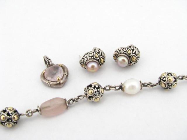 411: John Hardy Bracelet, Earrings & Slide