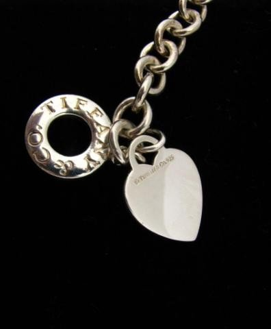 417: Tiffany & Co. Sterling Link Heart Bracelet