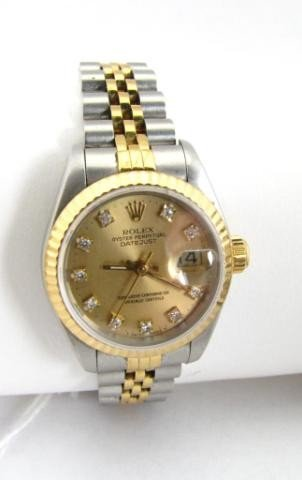 512: Lady's 18K/Stainless Rolex Datejust
