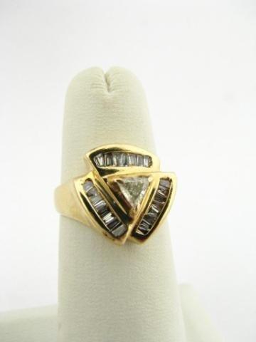 303: 14K Yellow Gold Diamond Ring