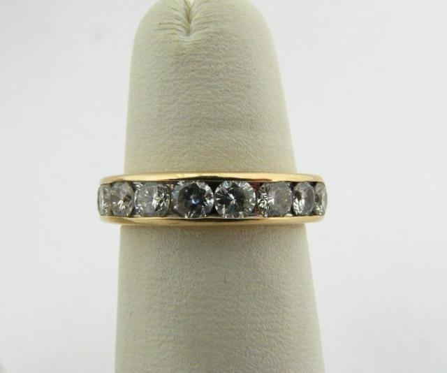 305: 14K Yellow Gold Diamond Ring