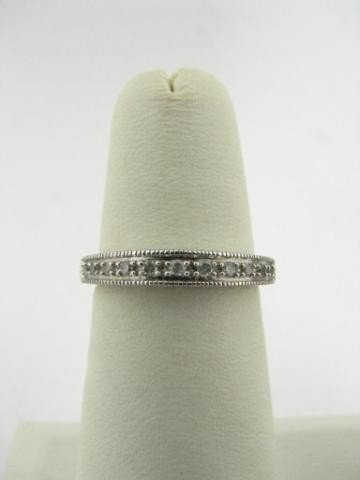 308: 10K White Gold Diamond Ring