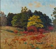 555: Frank V Dudley 20x22 O/C Autumn Landscape