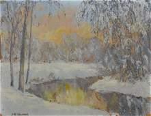 566: JW Hardrick 10x13 o/b River Snow