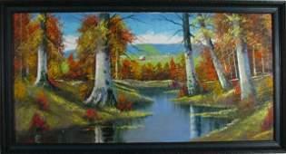 622: Joseph Trover 24x48 O/C Autumn Landscape