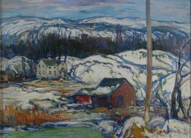 638: Charles Reiffel 12x16 O/B 'Winnipauk Hills'