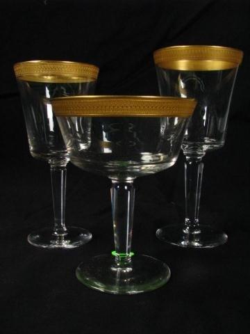 516: Set of Lenox Gold Trimmed Crystal Stemware