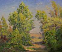 698: VJ Cariani 20x24 O/B Landscape, Estate Provenance