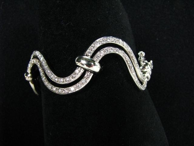 662: 14K White Gold, 5ct Diamond Bracelet