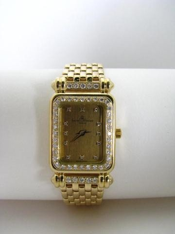 668: Baume & Mercier 18K YG Diamond Lady's Wristwatch