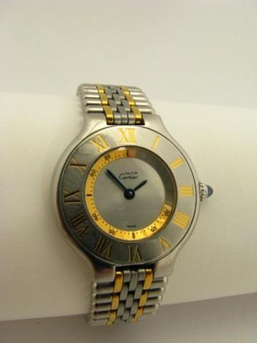 401: Lady's Cartier Two Tone Stainless Wristwatch