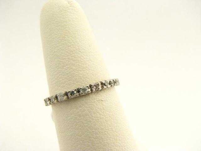 411: Platinum Eternity Band with Full Cut Diamonds