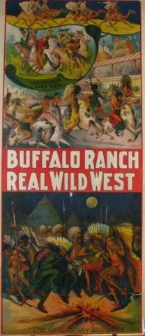694: Buffalo Ranch, Real Wild West Poster