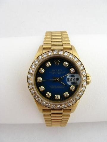 1B: Lady's Rolex President Wristwatch - Diamond Dial