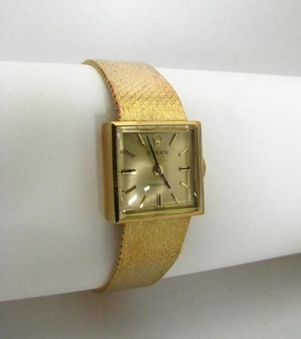 1C: 18K Yellow Gold Lady's Vintage Dress Rolex