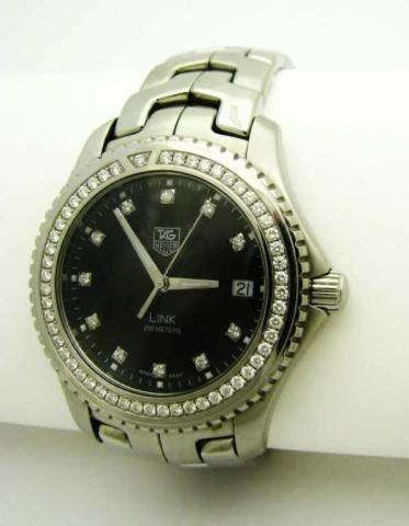 2: Gent's Tag Heuer Link Stainless, Diamond Watch