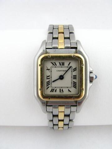 2B: Cartier Tone Tone Quartz Lady's Wristwatch