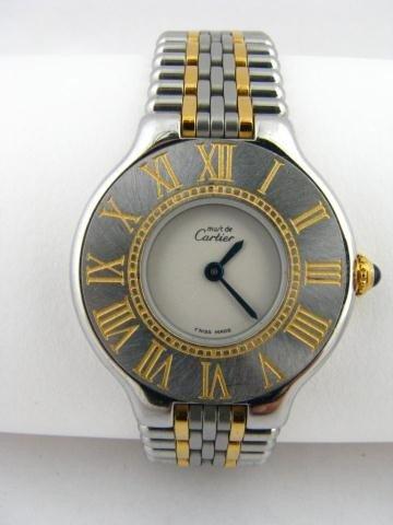 2C: Cartier Lady's Two Tone Quartz Wristwatch