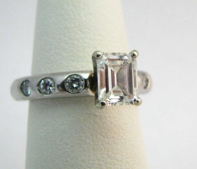6: Platinum GIA Certified 1ct Diamond Ring