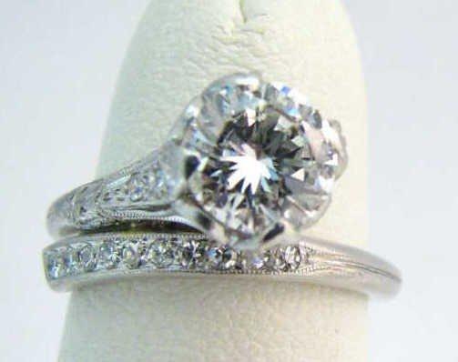 7: Petri & Co. Platinum Diamond Ring, 1.05ct