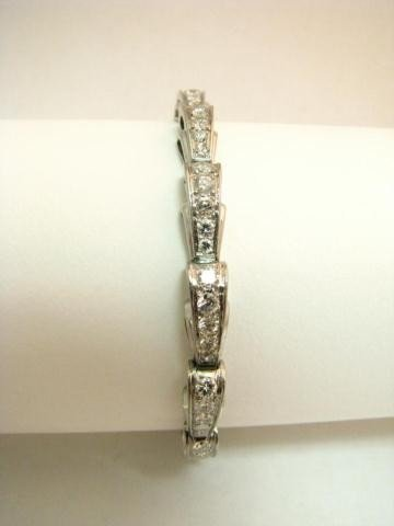 11: Platinum and Diamond Bracelet