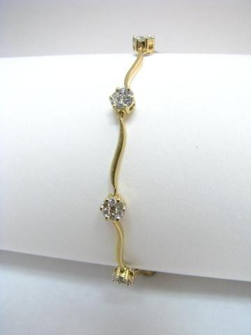 13: 14K Yellow Gold Diamond Bracelet