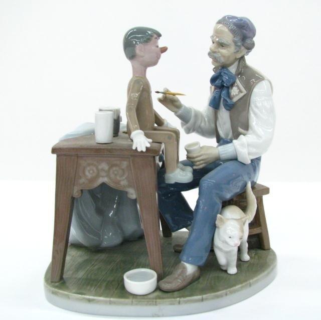 91A: Lladro Porcelain Figure, 'The Puppet Painter'
