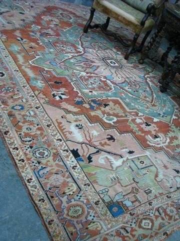 212: Antique Oriental Rug, Caucasian Design