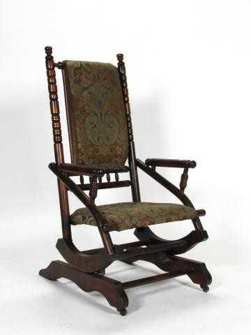 - 388: Antique Platform Rocking Chair