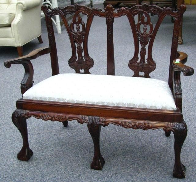 398 Chippendale Style Reproduction Child S Settee