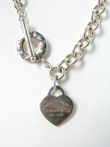762: Sterling Silver Tiffany Heart Tag Necklace