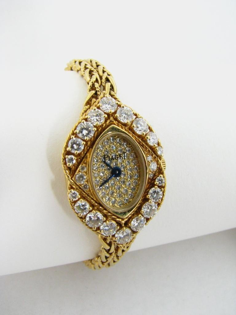 2: Lady's Vintage Piaget 18K Gold and Diamond Watch
