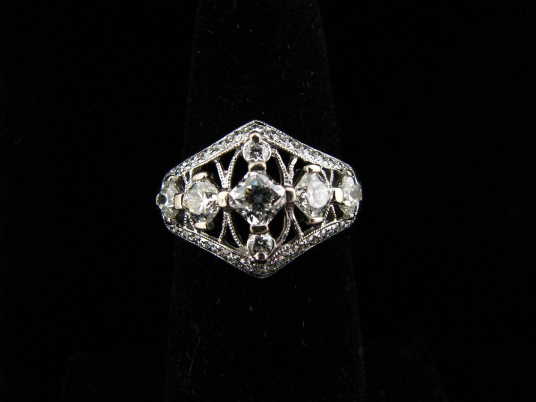 11: 18K White Gold Hearts on Fire Diamond Ring