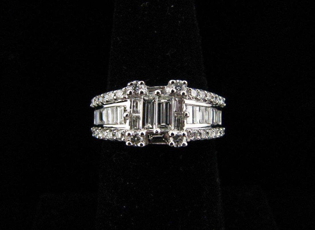 12: 18K White Gold Diamond Levian Ring