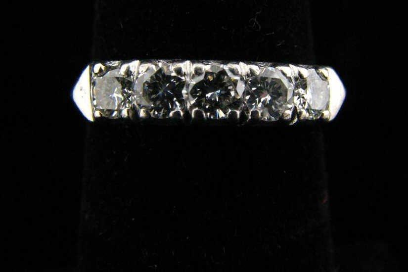 13: Platinum Diamond Ring