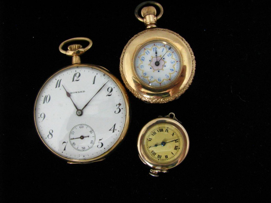 21: Two Gold Filled Pocket Watches, One Pendant Watch