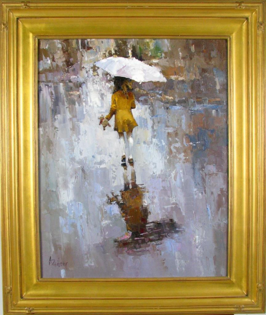 459: Alexi Zaitsev 30x24 oil on canvas 'Rain'