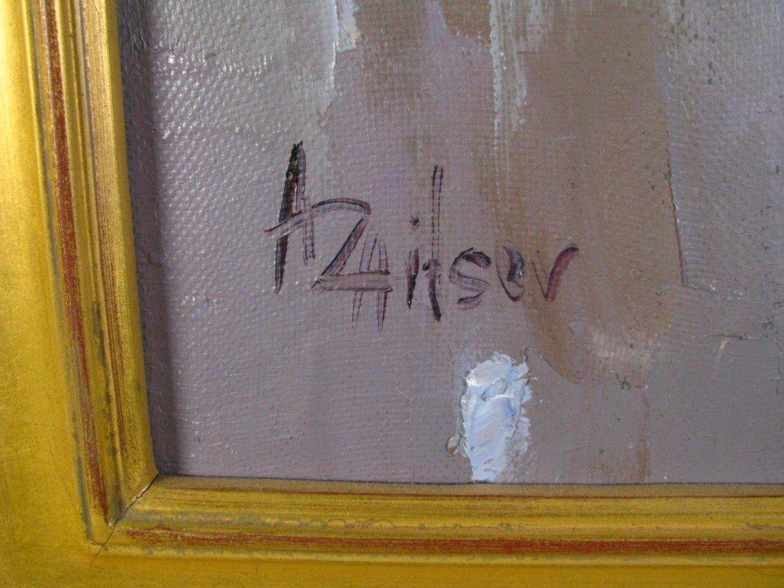459: Alexi Zaitsev 30x24 oil on canvas 'Rain' - 3