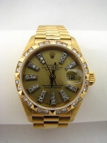 16: Lady's 18K Yellow Gold President, Rolex Watch
