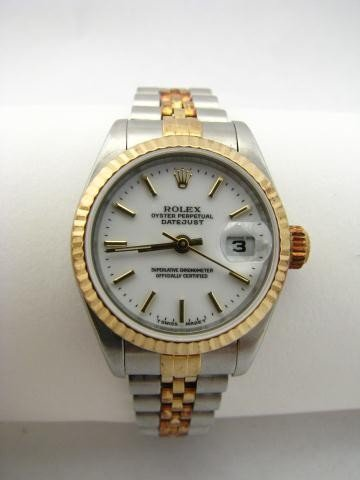 17: Lady's Two Tone 18K/Stainless Datejust Rolex Watch