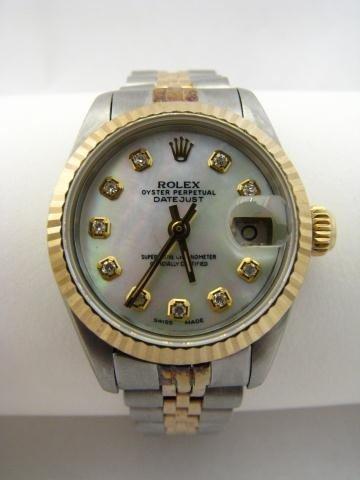 18: Lady's Diamond Dial Rolex Datejust Watch