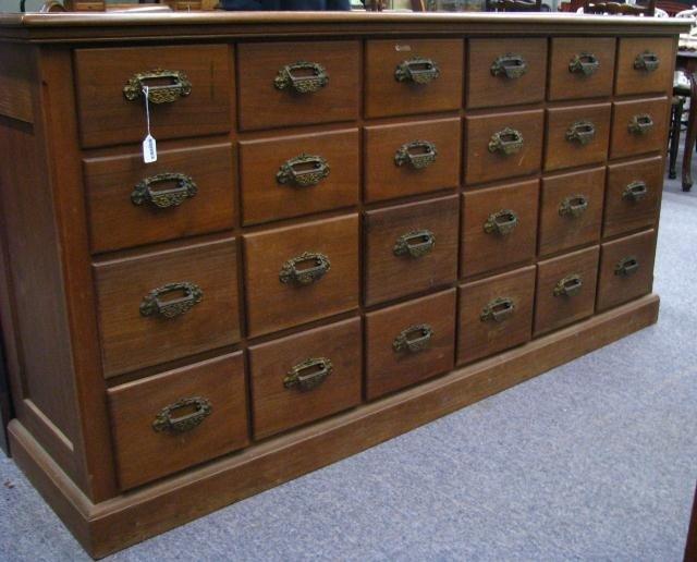293: Antique General Store Hardware Cabinet