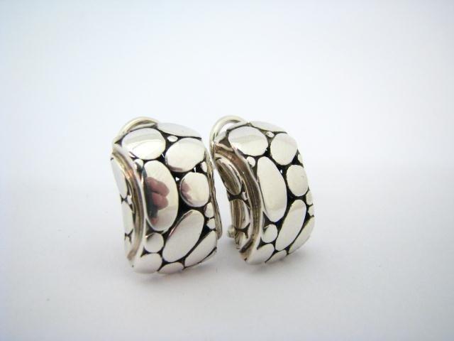 607: John Hardy Sterling Silver Designer Earrings