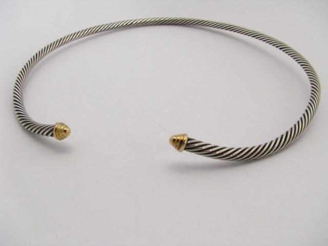 610: David Yurman Designer Sterling &18K Collar