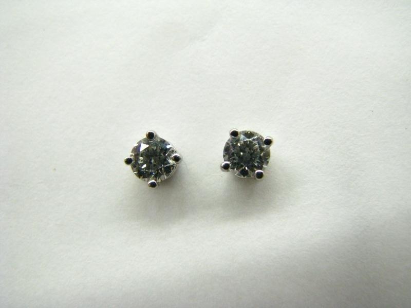 602B: Pair of Tiffany Platinum Diamond Earrings