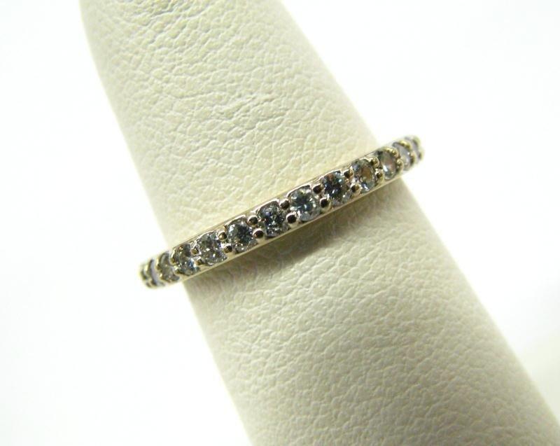 613A: Penny Preville 18K White Gold Diamond Band