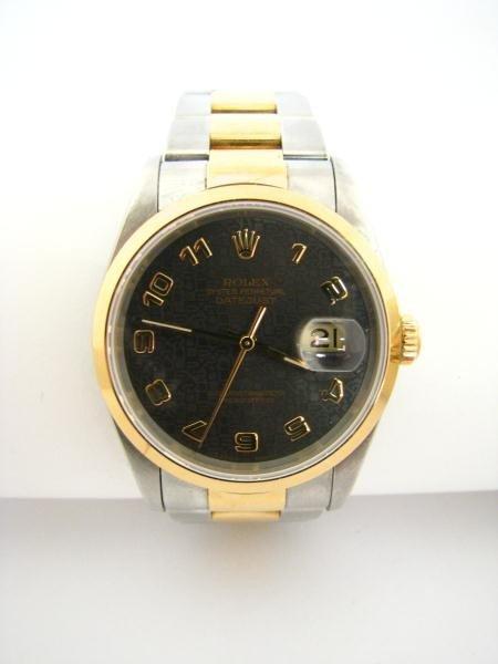 609: Rolex Two Tone Datejust Gents Wristwatch