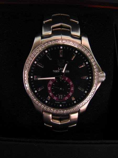 610: Tag Heuer 'Tiger Woods' Stainless & Diamond Watch